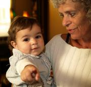 Child and grandmother